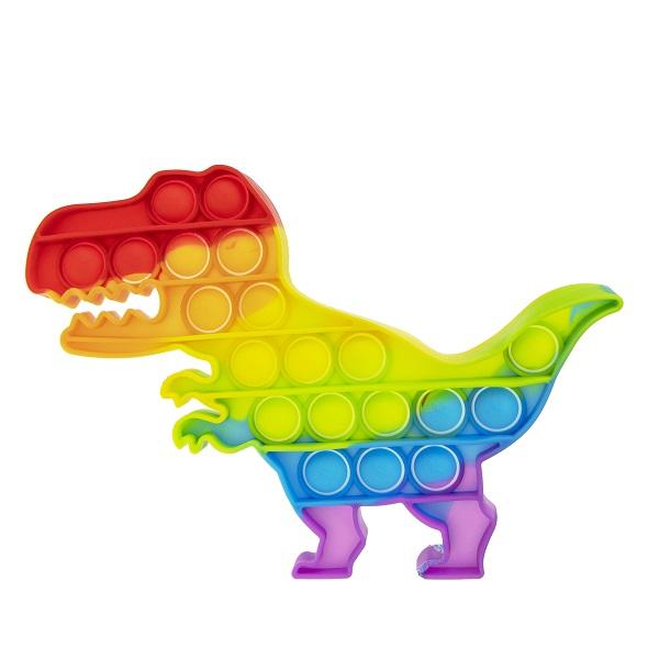 Купить 1toy T21614 Игрушка-антистресс POP IT, динозавр радужный, поп ит 1toy