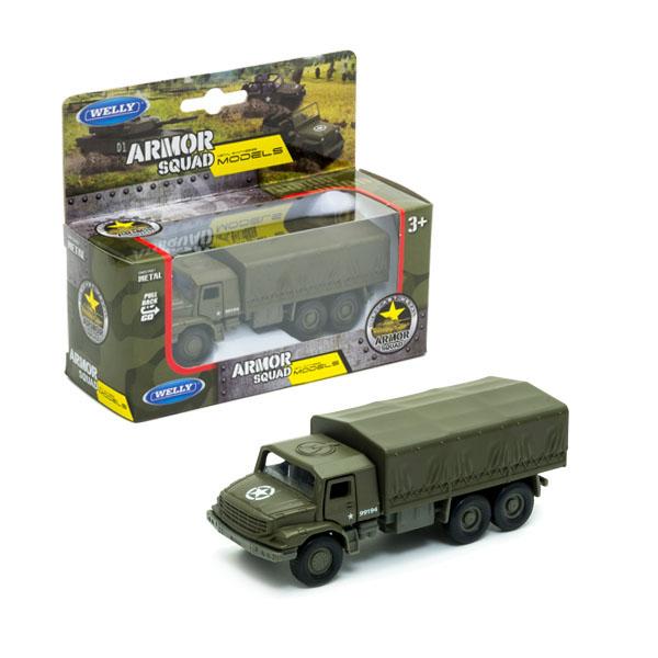 Игрушечные машинки и техника Welly — Welly 99194 Велли Военный автомобиль