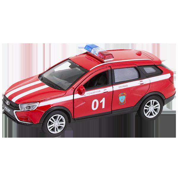 Купить Welly 43763FS Велли Модель машины 1:34-39 LADA VESTA SW CROSS Пожарная охрана, Игрушечные машинки и техника Welly