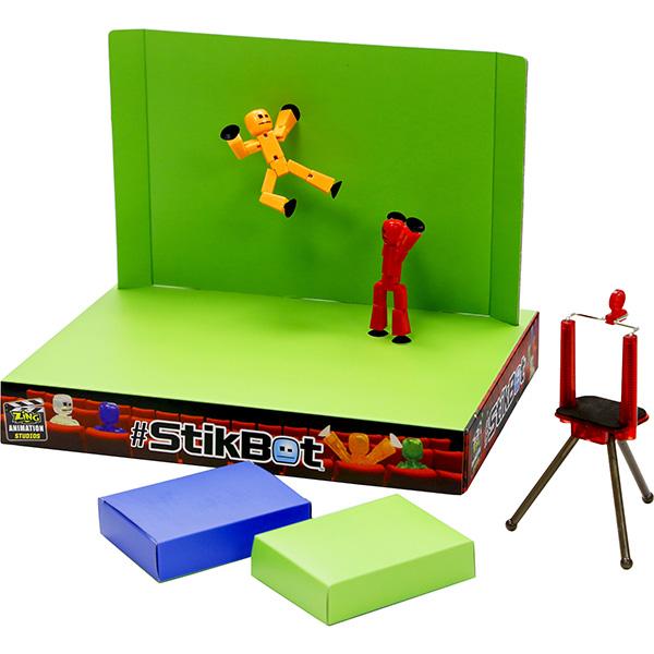 Набор для творчества Stikbot TST617 Стикбот Анимационная студия со сценой фото
