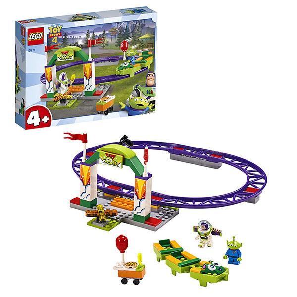 Купить LEGO Juniors 10771 Конструктор Лего Джуниорс История игрушек-4: Аттракцион Паровозик, Конструкторы LEGO