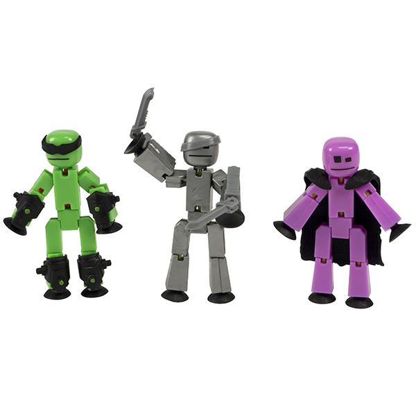 Игровые наборы и фигурки для детей Stikbot TST614R Стикбот 3 фигурки Stikbot Off the Grid, Raptus фото