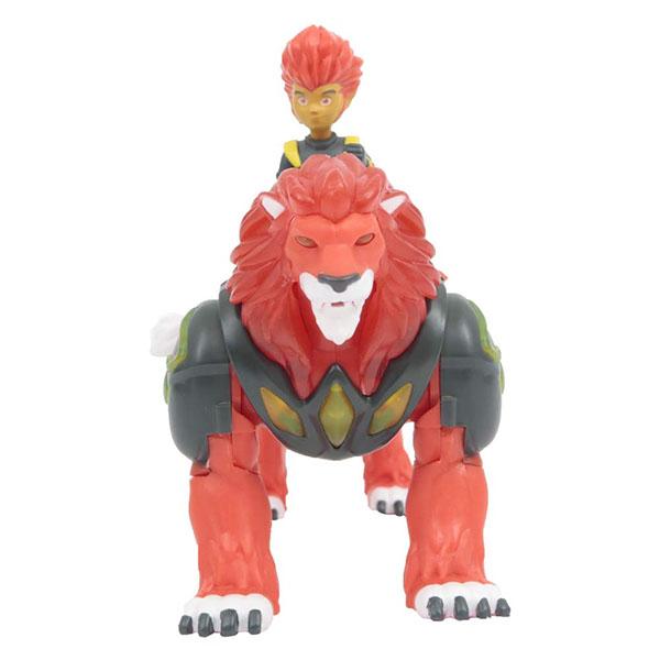 Gormiti GRM05000-2 Фигурка героя в комплекте с чудовищем  Пайрон и Рифф (с подсветкой и звуком) - Игровые наборы