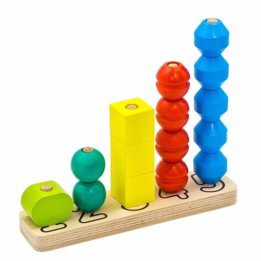 Купить Alatoys 3003ALLA Пирамидка Счеты , Деревянные игрушки Alatoys