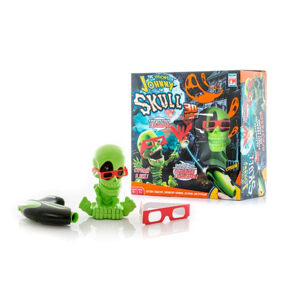 Johnny the Skull 3053 Тир проекционный 3D Джонни-Черепок с 1 бластером, Интерактивная игрушка Johnny the Skull  - купить со скидкой