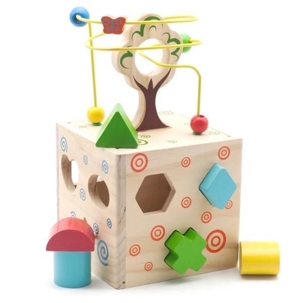 Деревянные игрушки Игрушки из дерева D014 Логический кубик фото