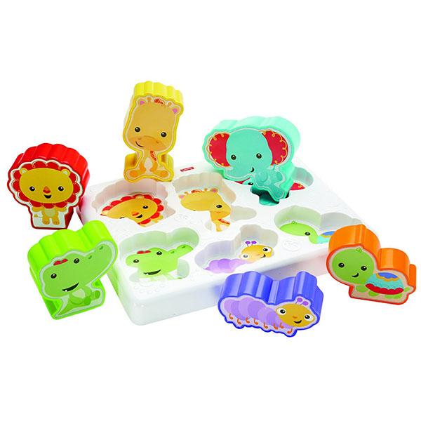 Купить Mattel Fisher-Price CMY38 Фишер Прайс Сортер Веселые животные , Развивающие игрушки для малышей Mattel Fisher-Price