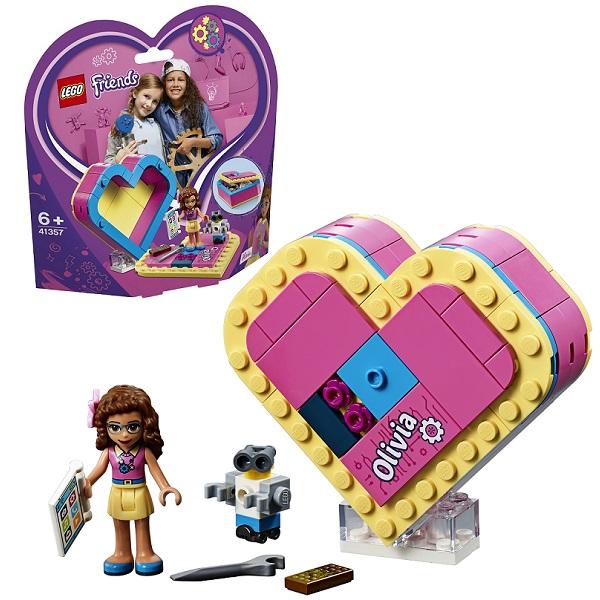 Купить LEGO Friends 41357 Конструктор ЛЕГО Подружки Шкатулка-сердечко Оливии, Конструкторы LEGO