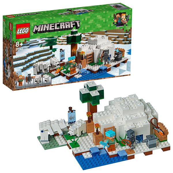 Купить LEGO Minecraft 21142 Конструктор ЛЕГО Майнкрафт Иглу, Конструктор LEGO