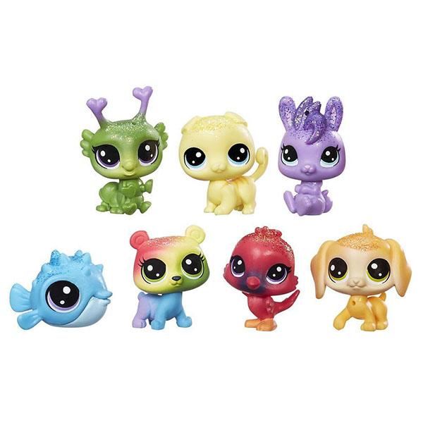 Купить Hasbro Littlest Pet Shop C0795 Литлс Пет Шоп: Радужная коллекция - 7 радужных петов, Игровой набор Hasbro Littlest Pet Shop