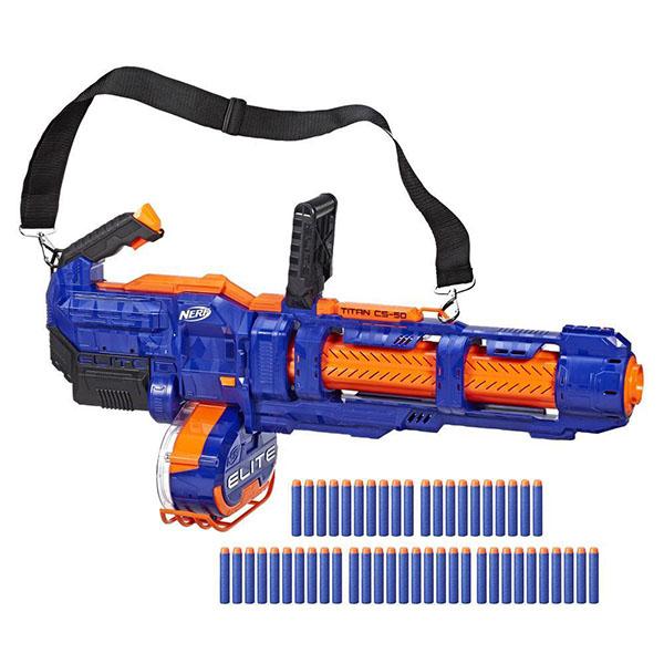 Купить Hasbro Nerf E2865 Нерф бластер Элит Титан, Игрушечное оружие и бластеры Hasbro Nerf