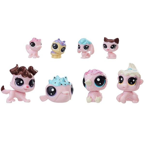 Купить Hasbro Littlest Pet Shop E0397 Литлс Пет Шоп Набор игрушек 8 Зефирных Петов, Игровой набор Hasbro Littlest Pet Shop