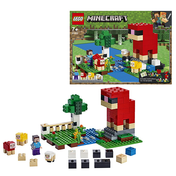 Купить LEGO Minecraft 21153 Конструктор ЛЕГО Майнкрафт Шерстяная ферма, Конструкторы LEGO
