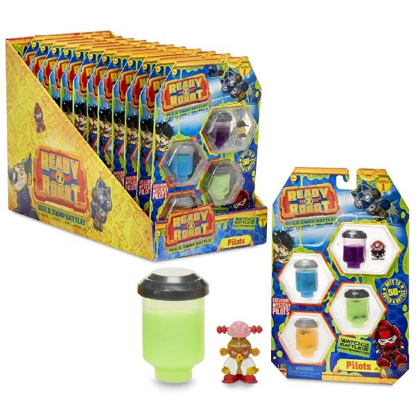 Купить Ready2Robot 553991 Четыре пилота со слизью (в ассортименте), Игровые наборы и фигурки для детей Ready2Robot