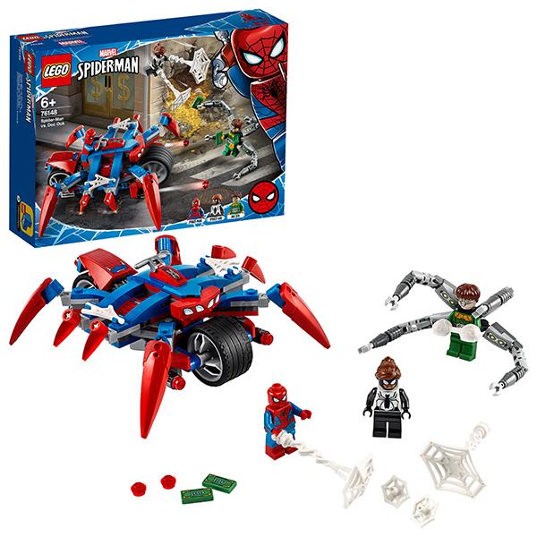 Купить LEGO Super Heroes 76148 Конструктор ЛЕГО Супер Герои Человек-Паук против Доктора Осьминога, Конструкторы LEGO