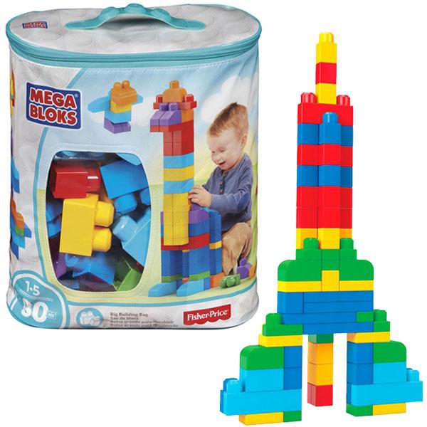 Mattel Mega Bloks DCH63 Мега Блокс Мой первый конструктор 80 деталей - Игрушки для малышей