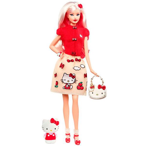 Купить Mattel Barbie DWF58 Барби Коллекционная кукла Hello Kitty, Кукла Mattel Barbie