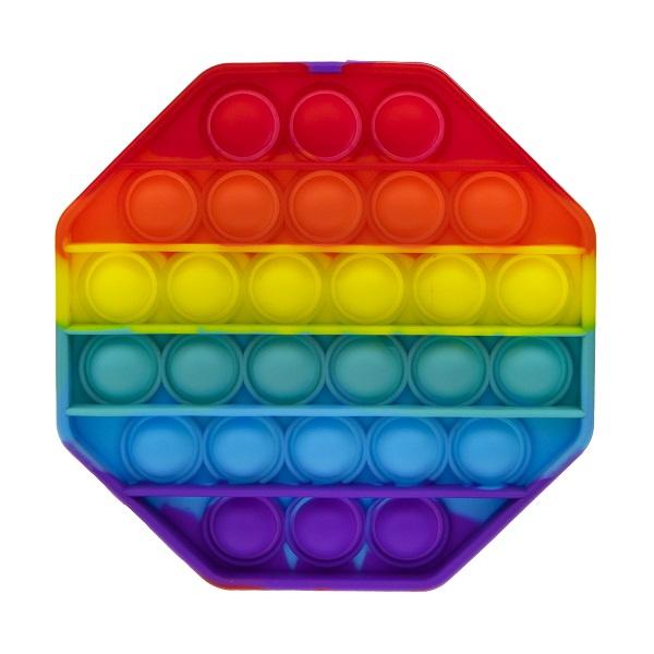 Купить 1toy T21585 Игрушка-антистресс POP IT, восьмиугольник радужный, поп ит 1toy