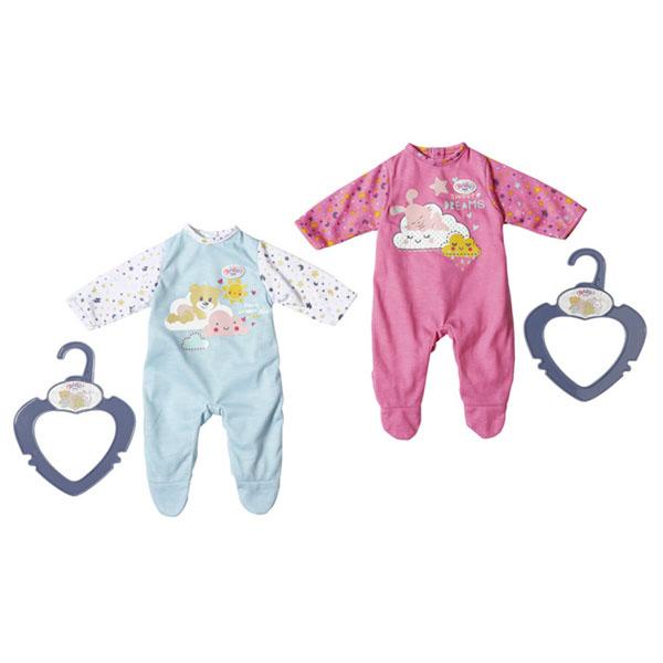 Одежда для куклы Zapf Creation Baby born 826-812 Бэби Борн Ночные комбинезончики, 36 см фото