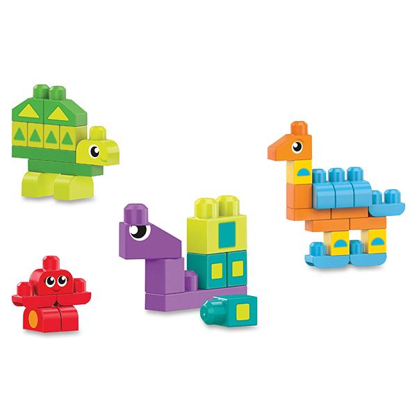 Mattel Mega Bloks DXH34 Мега Блокс Обучающий конструктор Разные формы - Игрушки для малышей