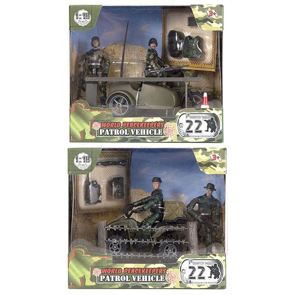 Купить World Peacekeepers MC77019 Игровой набор Патруль 2 фигурки, 1:18 (в ассортименте), Игровые наборы и фигурки для детей World Peacekeepers