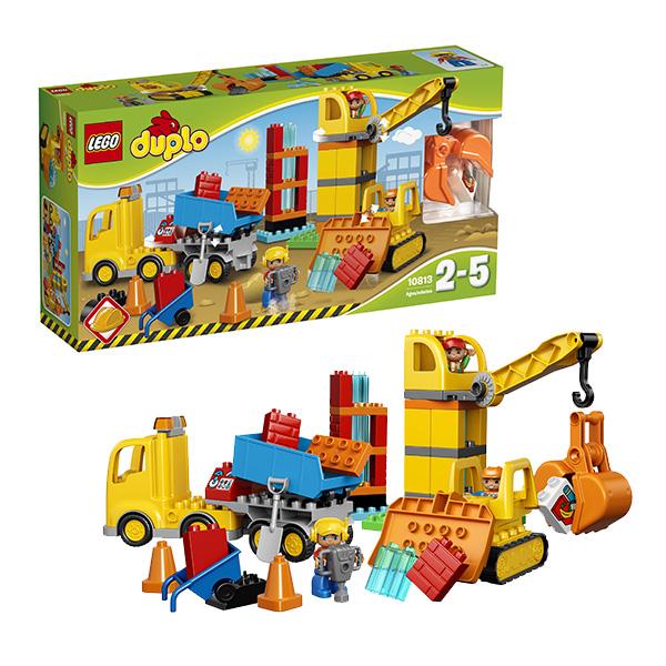 Купить LEGO DUPLO 10813 Конструктор ЛЕГО ДУПЛО Большая стройплощадка, Конструктор LEGO