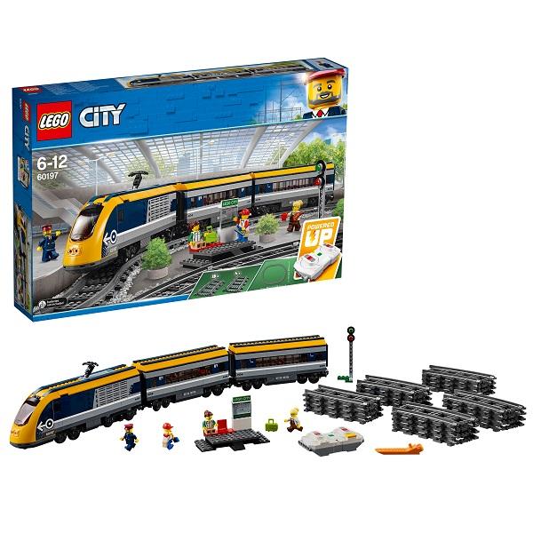 Купить LEGO City 60197 Конструктор ЛЕГО Город Пассажирский поезд, Конструкторы LEGO