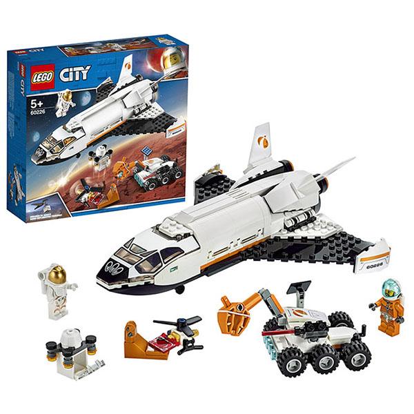 Купить LEGO City 60226 Конструктор Лего Город Шаттл для исследований Марса, Конструктор LEGO