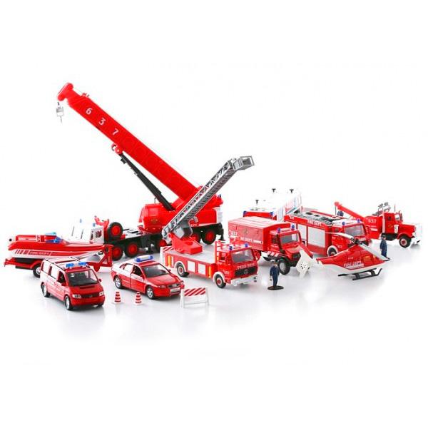 Купить Welly 99610-20B Велли Игровой набор машин Пожарная служба 20 шт, Машинка Welly