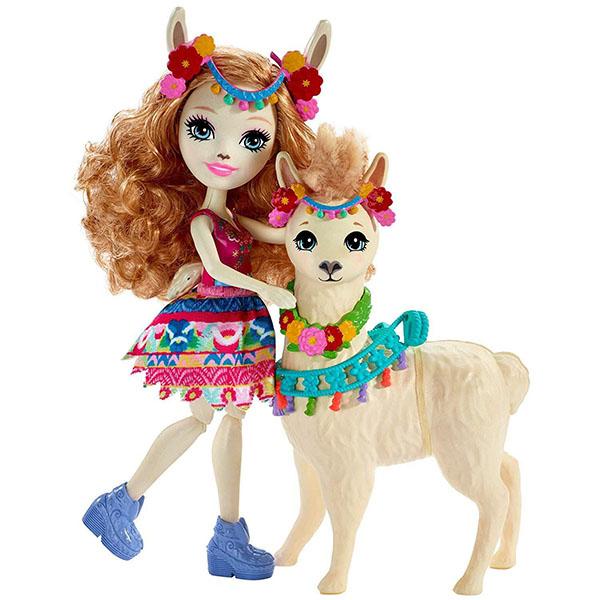 Mattel Enchantimals FRH42 Куклы с большими зверюшками ЛУЭЛЛА ЛАМА