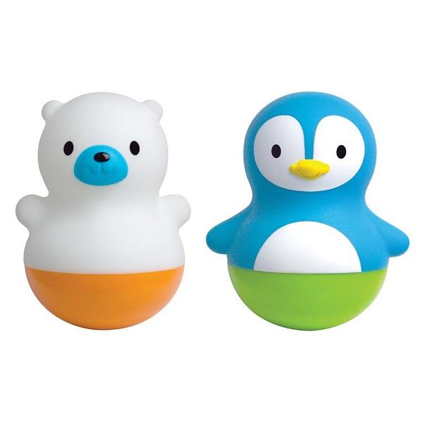 """Игрушки для ванной MUNCHKIN 11013 NEW Игрушки для ванны поплавки """"Медведь и Пингвин"""" 6м+ фото"""