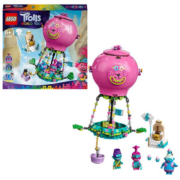 Конструкторы LEGO Trolls 41252 Конструктор ЛЕГО Тролли Путешествие Розочки на воздушном шаре фото