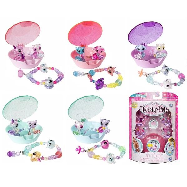 Купить Twisty Petz 74102 Набор бусин для плетения 4 браслетов-мини-питомцев, Игровые наборы и фигурки для детей Twisty Petz