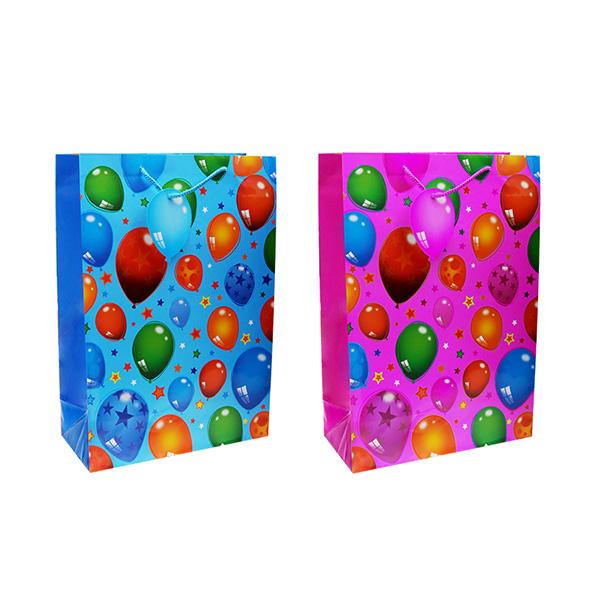 """Пакет подарочный бумажный TZ14044 """"Воздушные шары"""", 2 вида в ассортименте (45*31*14 см)"""