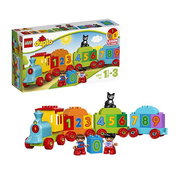 Купить LEGO DUPLO 10847 Конструктор ЛЕГО ДУПЛО Поезд Считай и играй, Конструктор LEGO