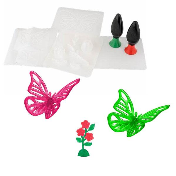 Купить 3D Magic 82001 Набор для создания объемных моделей - бабочка и цветок, Набор для творчества 3D Magic
