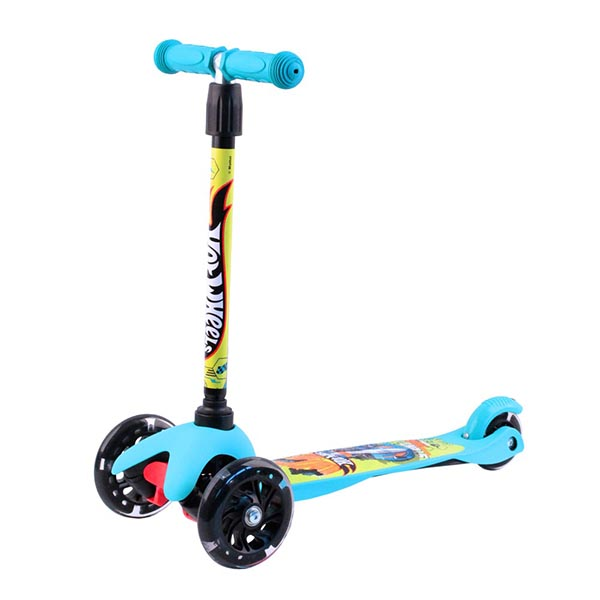 Hot Wheels HW4PB1 Самокат 3-х колесный, голубой, размеры: 55х21,5х67см - Отдых и спорт