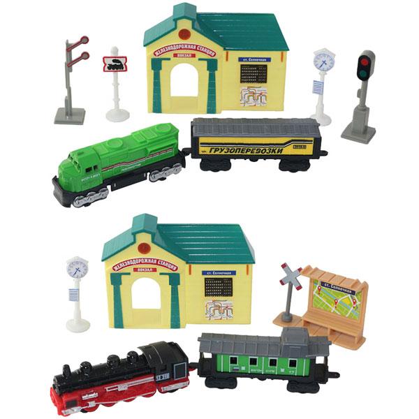 Купить Wincars 30518 Набор Железнодорожная станция: поезда и аксессуары, Наборы игрушечных железных дорог, локомотивы, вагоны ТМ Wincars