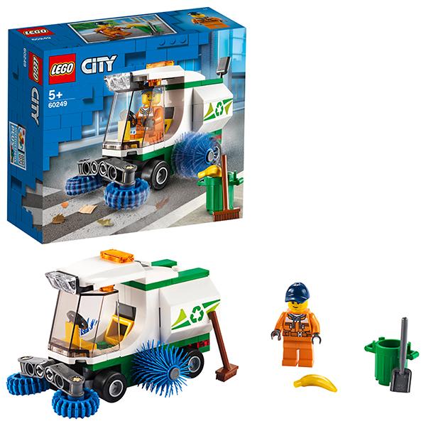 Купить LEGO City 60249 Конструктор ЛЕГО Город Great Vehicles Машина для очистки улиц, Конструкторы LEGO
