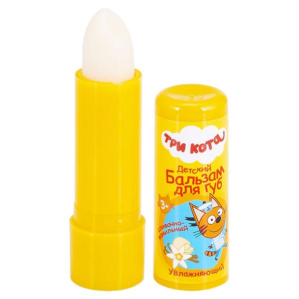 Купить Три Кота Gk-113/2 Детский бальзам для губ Сливочно-ванильный с экстрактом ромашки, Косметика для девочек Галант Косметик