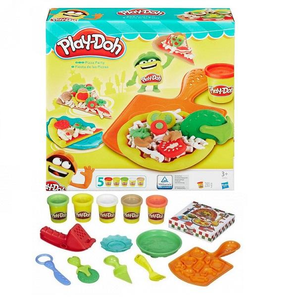 Купить Hasbro Play-Doh B1856 Игровой набор пластилина Пицца , Пластилин Hasbro Play-Doh