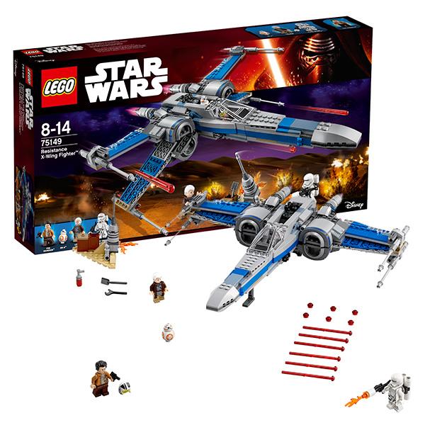 Купить Lego Star Wars 75149 Лего Звездные Войны Истребитель Сопротивления типа Икс, Конструктор LEGO