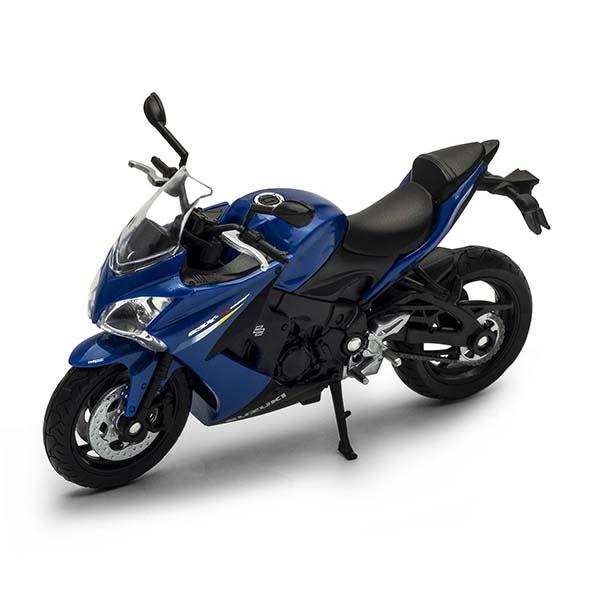 Купить Welly 12844P Велли модель мотоцикла 1:18 Suzuki GSX S1000F, Игрушечные машинки и техника Welly