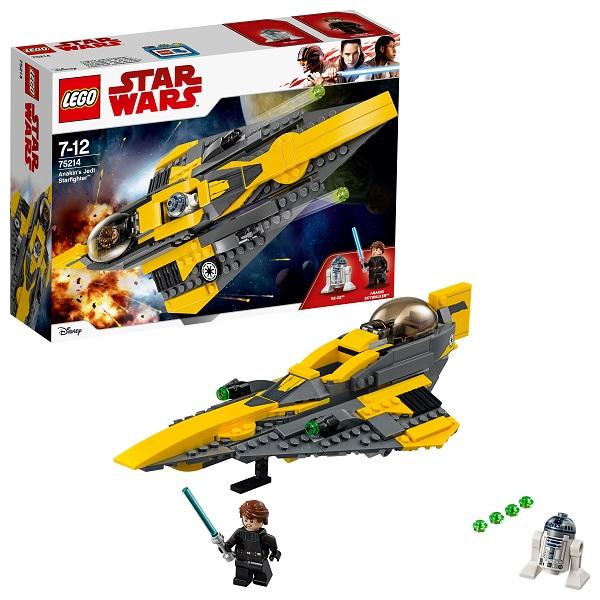 Купить LEGO Star Wars 75214 Конструктор ЛЕГО Звездные Войны Звёздный истребитель Энакина, Конструкторы LEGO