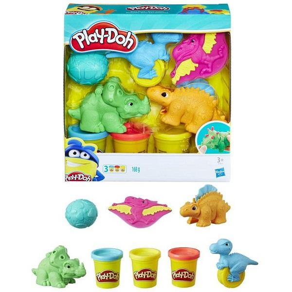 Купить Hasbro Play-Doh E1953 Плей-До Малыши-Динозаврики, Пластилин и масса для лепки Hasbro Play-Doh