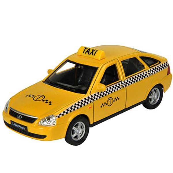 Машинка инерционная Welly Welly 43645TI Велли модель машины 1:34-39 LADA PRIORA ТАКСИ по цене 399