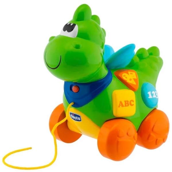 Купить CHICCO TOYS 69033 Говорящий дракон на колесиках (рус/англ) с 9 месяцев, Развивающие игрушки для малышей CHICCO TOYS