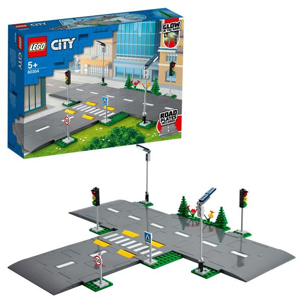 Купить LEGO City 60304 Конструктор ЛЕГО Город City Town Перекрёсток, Конструкторы LEGO