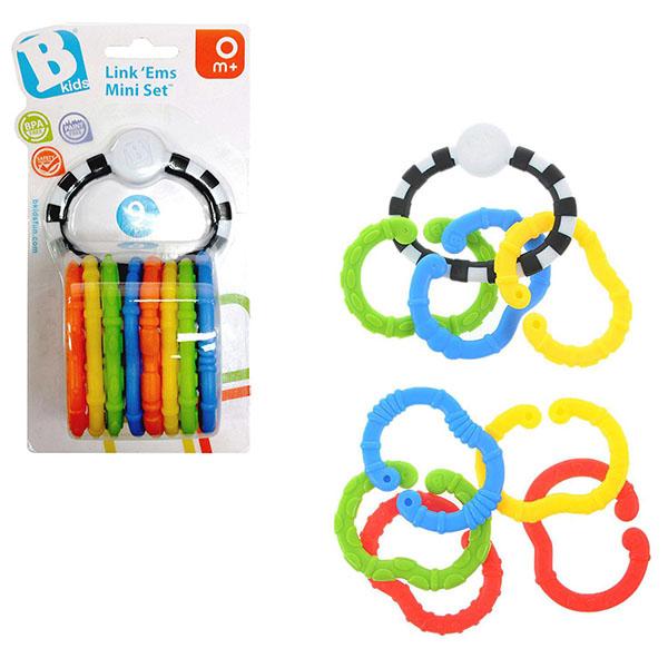 """Развивающие игрушки для малышей B kids 004884 Мини-набор """"Соедини их"""" (9 деталей) фото"""