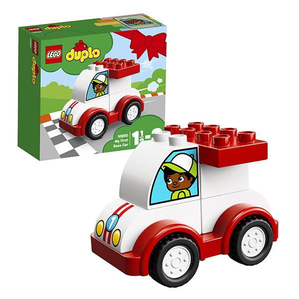 Купить Lego Duplo 10860 Лего Дупло Мой первый гоночный автомобиль, Конструкторы LEGO